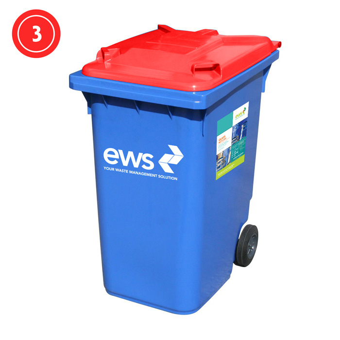 ews glass recycling bin